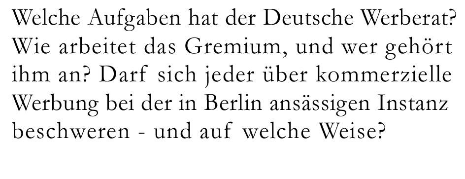 Welche Aufgaben hat der Deutsche Werberat?